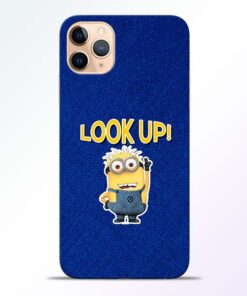 Look Up Minion iPhone 11 Pro Mobile Cover