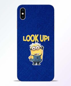 Look Up Minion iPhone XS Max Mobile Cover