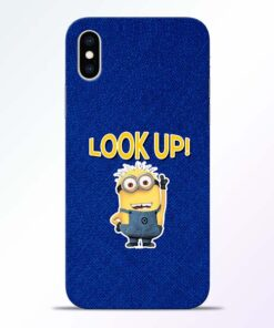 Look Up Minion iPhone XS Mobile Cover