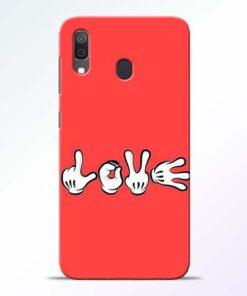 Love Symbol Samsung A30 Mobile Cover - CoversGap