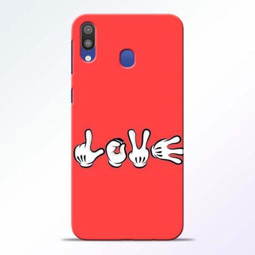 Love Symbol Samsung M20 Mobile Cover - CoversGap