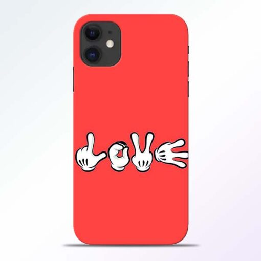 Love Symbol iPhone 11 Mobile Cover