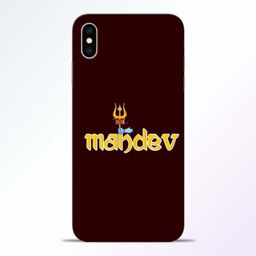 Mahadev Trishul iPhone XS Max Mobile Cover
