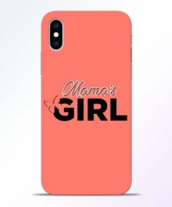 Mama Girl iPhone XS Mobile Cover