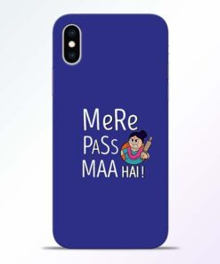 Mere Paas Maa iPhone XS Mobile Cover