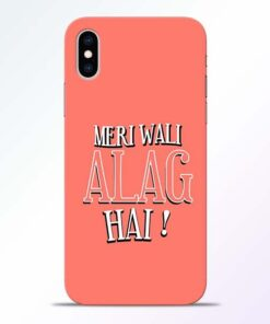 Meri Wali Alag iPhone XS Mobile Cover