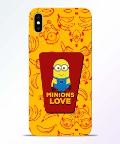 Minions Love iPhone XS Max Mobile Cover