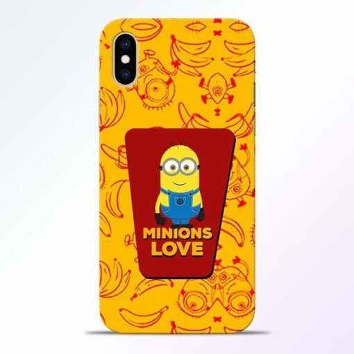 Minions Love iPhone XS Mobile Cover