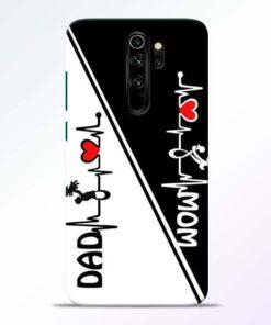 Mom Dad Redmi Note 8 Pro Mobile Cover - CoversGap