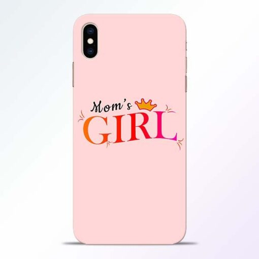 Mom Girl iPhone XS Max Mobile Cover