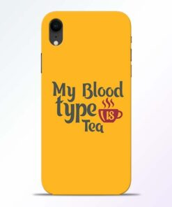 My Blood Tea iPhone XR Mobile Cover