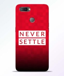 Never Settle RealMe U1 Mobile Cover - CoversGap