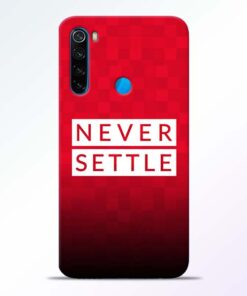 Never Settle Redmi Note 8 Mobile Cover