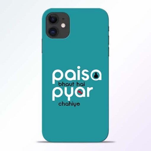 Paisa Bahut iPhone 11 Mobile Cover