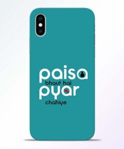 Paisa Bahut iPhone XS Mobile Cover