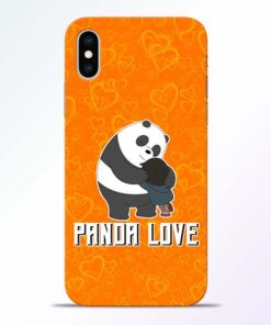 Panda Love iPhone XS Mobile Cover