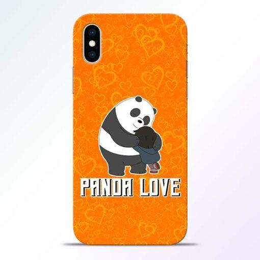 Panda Love iPhone XS Mobile Cover