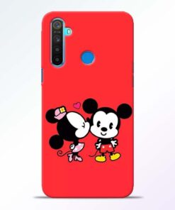 Red Cute Mouse RealMe 5 Mobile Cover - CoversGap