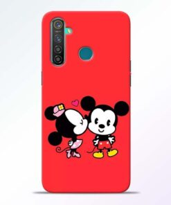 Red Cute Mouse RealMe 5 Pro Mobile Cover - CoversGap