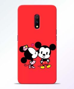 Red Cute Mouse RealMe X Mobile Cover - CoversGap