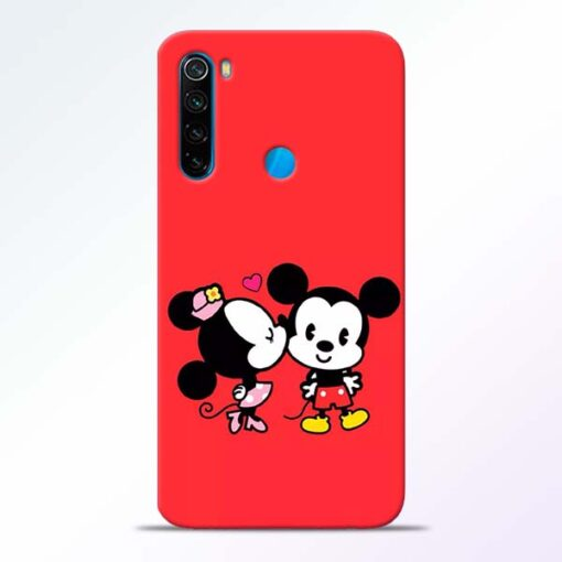 Red Cute Mouse Redmi Note 8 Mobile Cover