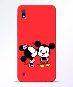 Red Cute Mouse Samsung A10 Mobile Cover - CoversGap