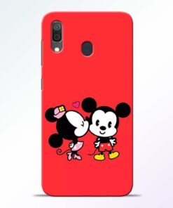Red Cute Mouse Samsung A30 Mobile Cover - CoversGap