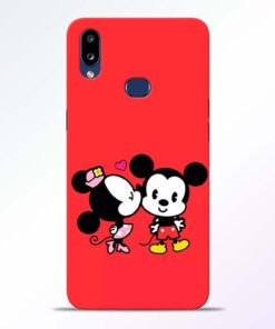 Red Cute Mouse Samsung Galaxy A10s Mobile Cover