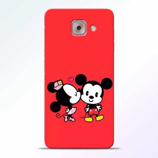 Red Cute Mouse Samsung Galaxy J7 Max Mobile Cover