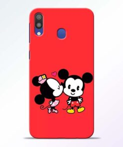 Red Cute Mouse Samsung M20 Mobile Cover - CoversGap