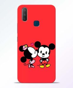 Red Cute Mouse Vivo Y17 Mobile Cover - CoversGap.com