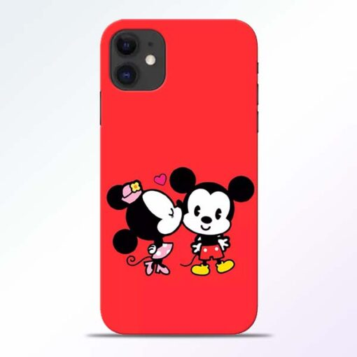 Red Cute Mouse iPhone 11 Mobile Cover