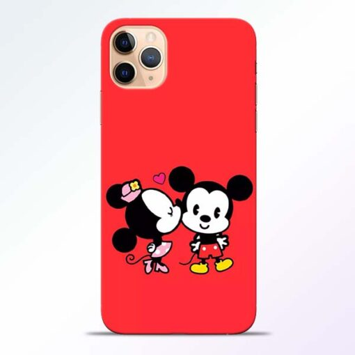 Red Cute Mouse iPhone 11 Pro Mobile Cover