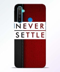 Red Never Settle RealMe 5 Mobile Cover - CoversGap
