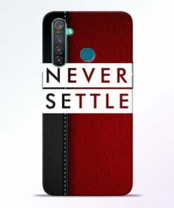 Red Never Settle RealMe 5 Pro Mobile Cover - CoversGap