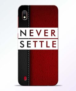 Red Never Settle Samsung A10 Mobile Cover - CoversGap