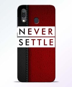 Red Never Settle Samsung A30 Mobile Cover - CoversGap