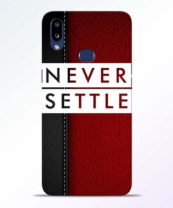 Red Never Settle Samsung Galaxy A10s Mobile Cover