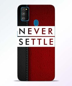 Red Never Settle Samsung Galaxy M30s Mobile Cover
