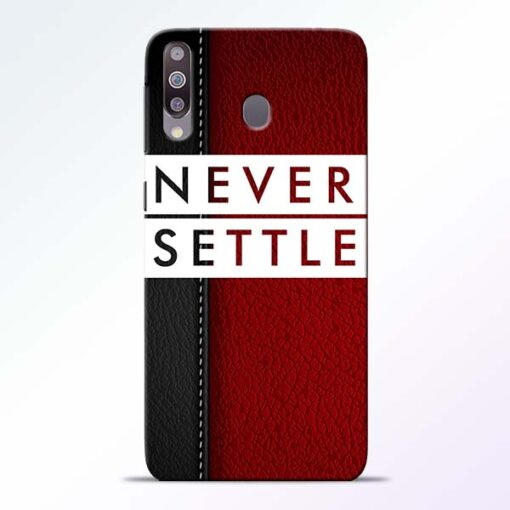 Red Never Settle Samsung M30 Mobile Cover - CoversGap