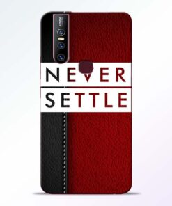 Red Never Settle Vivo V15 Mobile Cover - CoversGap.com