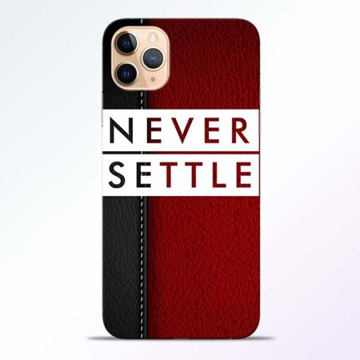 Red Never Settle iPhone 11 Pro Mobile Cover