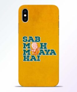 Sab Moh Maya iPhone XS Mobile Cover
