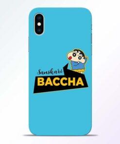 Sanskari Baccha iPhone XS Mobile Cover