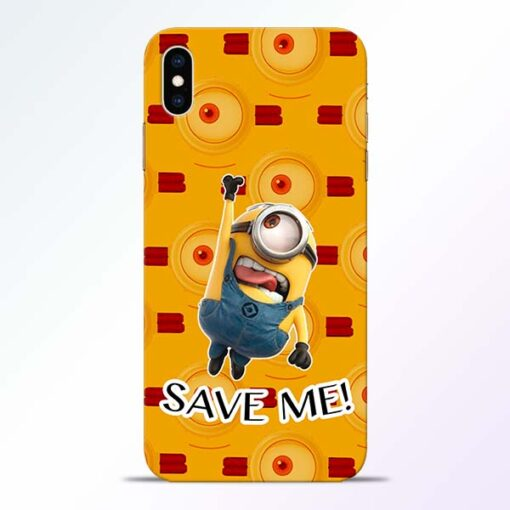 Save Minion iPhone XS Max Mobile Cover