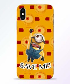 Save Minion iPhone XS Mobile Cover