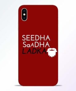 Seedha Sadha Ladka iPhone XS Max Mobile Cover