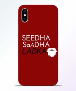 Seedha Sadha Ladka iPhone XS Mobile Cover