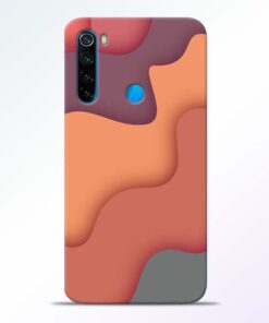 Spill Color Art Redmi Note 8 Mobile Cover - CoversGap