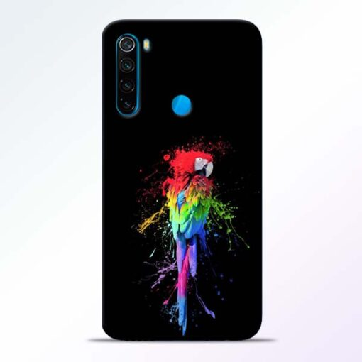 Splatter Parrot Redmi Note 8 Mobile Cover - CoversGap
